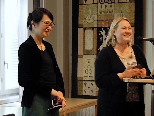丸山芳子とヘレナ・ユンティラ
