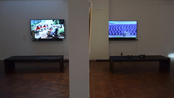ISHIKURA Toshiaki: Video (left), Jukka TARKIAINEN: Video (right)